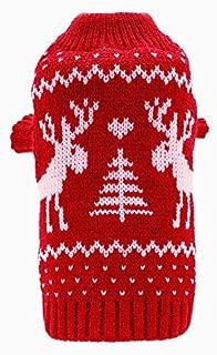 BINGPET Small Dog Puppy Sweaters Cute Reindeer