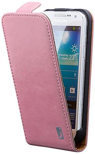 iCues Samsung Galaxy S4 MINI | Klapp Tasche Rosa | [Display Schutzfolie Inklusive] Leder - Imitat Book Klapphülle Schutz Etui Handytasche zum aufklappen Flip Case Schutzhülle Booklet Hülle Wallet