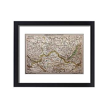 Media Storehouse Framed 20x16 Print of Siberia - Lake of Baikal map  13591741