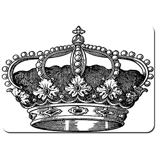 Wdoci Alfombrilla de baño.Antideslizante,Antiguo Reino de la Corona Real Emperador Gobernante Zar...