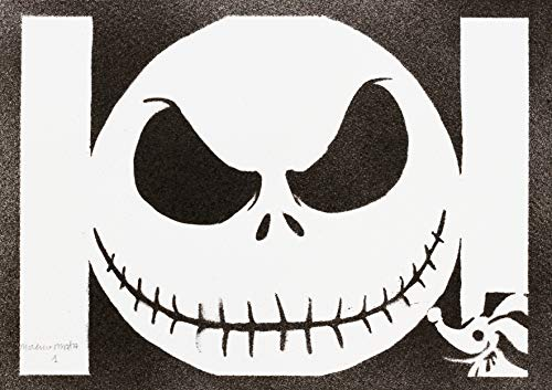 Poster Jack Skeleton (Skellington) Pesadilla Antes de Navidad Grafiti Hecho a Mano - Handmade Street Art - Artwork