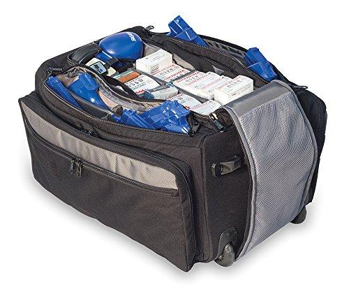 "Elite Survival Systems Range Roller Rolling Range Bag 9010-B Range Roller Rolling Range Bag Black/Gray, 21""X13""X11"""