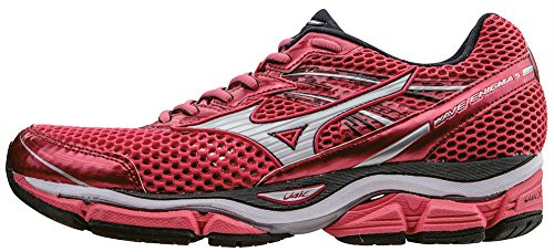 Mizuno Wave Enigma 5 Wos - Zapatillas de running Mujer, CalypsoCoral/White/DarkShadow, EU 38 (US 7.5)
