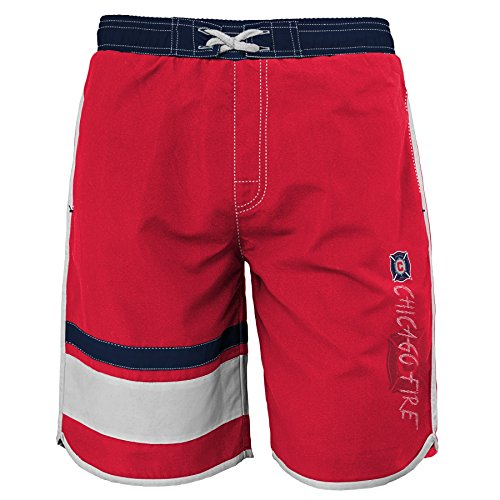 MLS Chicago Fire Youth Jungen Badehose, Größe XL, Rot