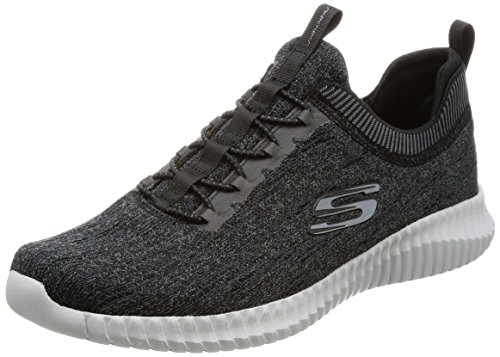 Skechers Men Elite Flex-Hartnell Trainers, Black (Black/Grey), 39.5 EU (6 UK)