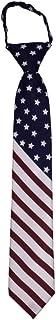"K K Designs American Flag Youth Microfiber 14"" Zipper Tie - Red, White, Blue"
