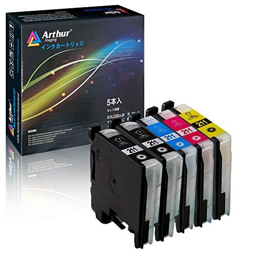 アーサーイメージング ブラザー brother LC211 対応 互換 インクカートリッジ 計5本