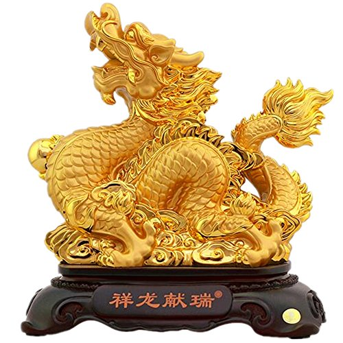 Résine ornements créatifs animal home office décorations, dragon, 28 * 15 * 29CM