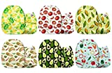Mama Koala One Size Baby Washable Reusable Pocket Cloth Diapers, 6 Pack with 6 One Size Microfiber...