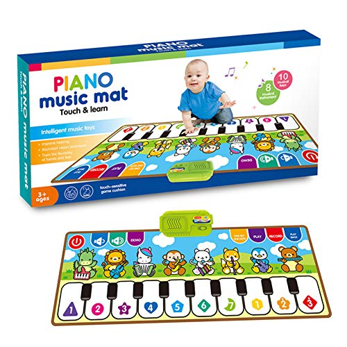 Tapete de música de piano, tapete de dança com teclado musical para crianças, tapete de música Touch Play para piano de presente para crianças