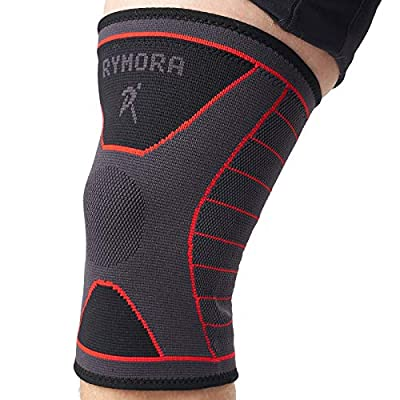 Rymora Knee Brace - Compression Sleeves for Men & Women - Comfortable & Secure Sleeve Supports for Weightlifting, Fitness, Running, Sports & Weak Joints (XL)