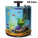60litros Half Moon Juego completo de acuario filtro luces peces tropicales