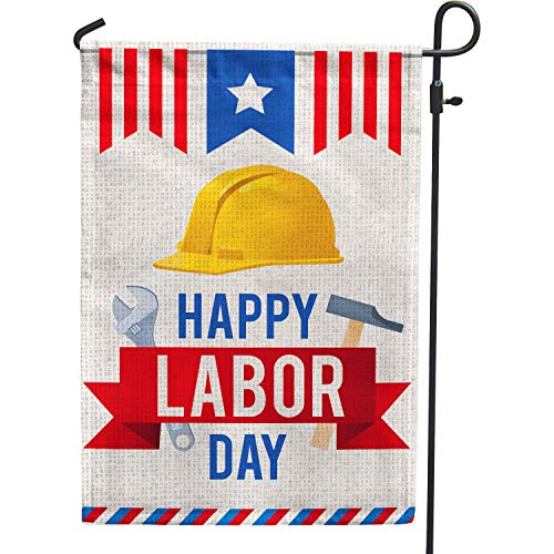 Labor Day Garden Flag