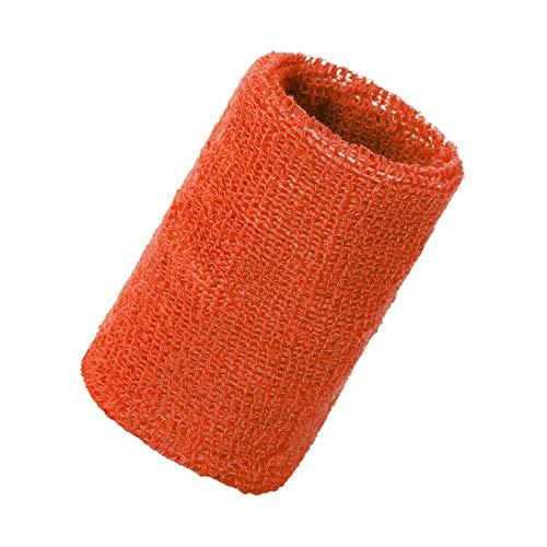 rongweiwang Deportes Pulsera de absorción del Sudor Ayuda de muñeca elástica Pulsera de los Deportes Unisex del mitón para Niños Adultos, Naranja Rojo