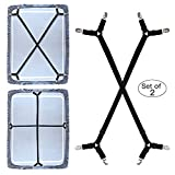 Best Bed Sheet Suspenders - Premium Bed Sheet Fasteners, 2 Pcs Adjustable Crisscross Review