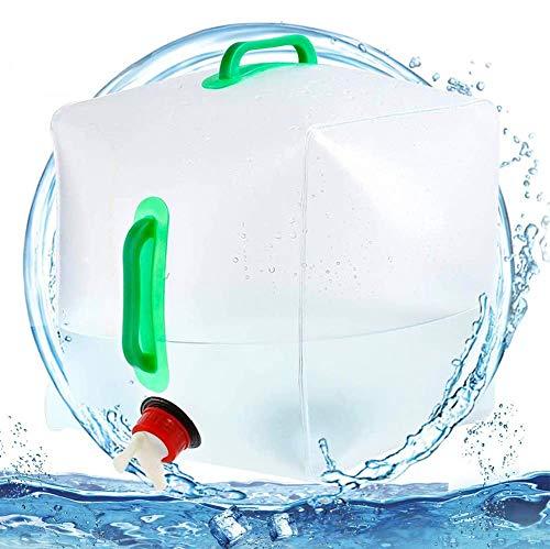 FANDE Bidon d'eau Pliant,Réservoir d'eau Portable Pliable PVC Grande Capacité,pour Eau Potable (20 l) Convient pour Camping Pique-Nique Escalade Extérieurs Survie d'Urgences.