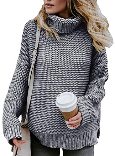Turtleneck sweater is chunky enough to wear it in fall or winter to keep you warm, solid pullover sweater is simple but fashion all the time,you will looks very modest and elegant! Thick cozy sweater top which can be worn alone, as well as goes well ...