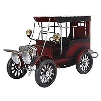 ヴィンテージ車の装飾品、ヴィンテージ古いヴィンテージ車モデルクラシックカーデスクトップの装飾ミニチュアクラシックカーアートクラフトオフィスホームデスクトップの装飾古いヴィンテージカーモデル