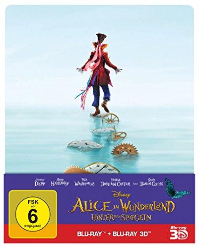 Alice im Wunderland: Hinter den Spiegeln (3D+2D) Steelbook [3D Blu-ray] [Limited Edition]