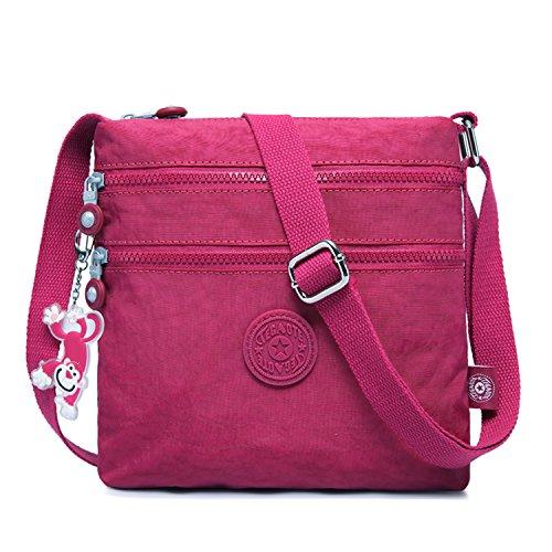Foino Bolso de Moda Bolso Bandolera Mujer Bolsas de Viaje Bolsos Escolares Bolsa de Deporte Ligero Vintage Colegio Libro Travel Bag para Tablet Bolsa Diseño