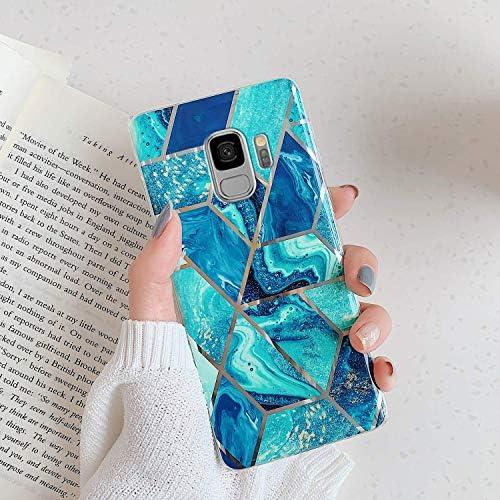 Uposao Coque pour Samsung Galaxy S9Housse Galaxy S9 Marbre Motif Silicone Cover Gel TPU Souple Coque de Protection UltraMince AntiRayures Antichoc Bumper Shell201;tui pour Galaxy S93