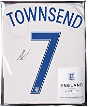 Andros Townsend Official England Back Autographed Signed 2016-17 Home Shirt - Certified Authentic Soccer Signature