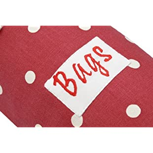 Large Plastic Bag Holder Red Polka Dot (Choice of Size):Eventmanager