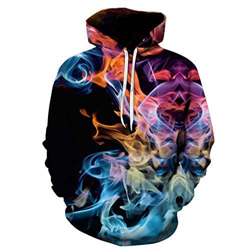 sunnymi Herrenmantel Kreative Langarm-Sweatshirtjacke mit Kapuze für Herren mit lässigem 3D-Druck