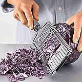 Cortador de verduras multiusos, cortador de alimentos de mano, cortador de verduras rallador plano...