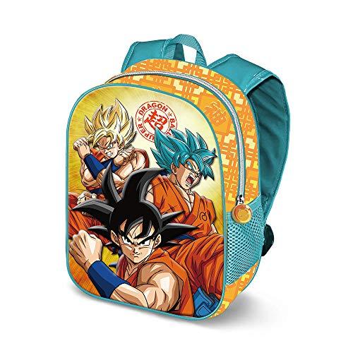 KARACTERMANIA Dragon Ball Saiyan-3D Backpack (Small) Zainetto per bambini, 31 cm, 8.5 liters, Multicolore (Multicolour)