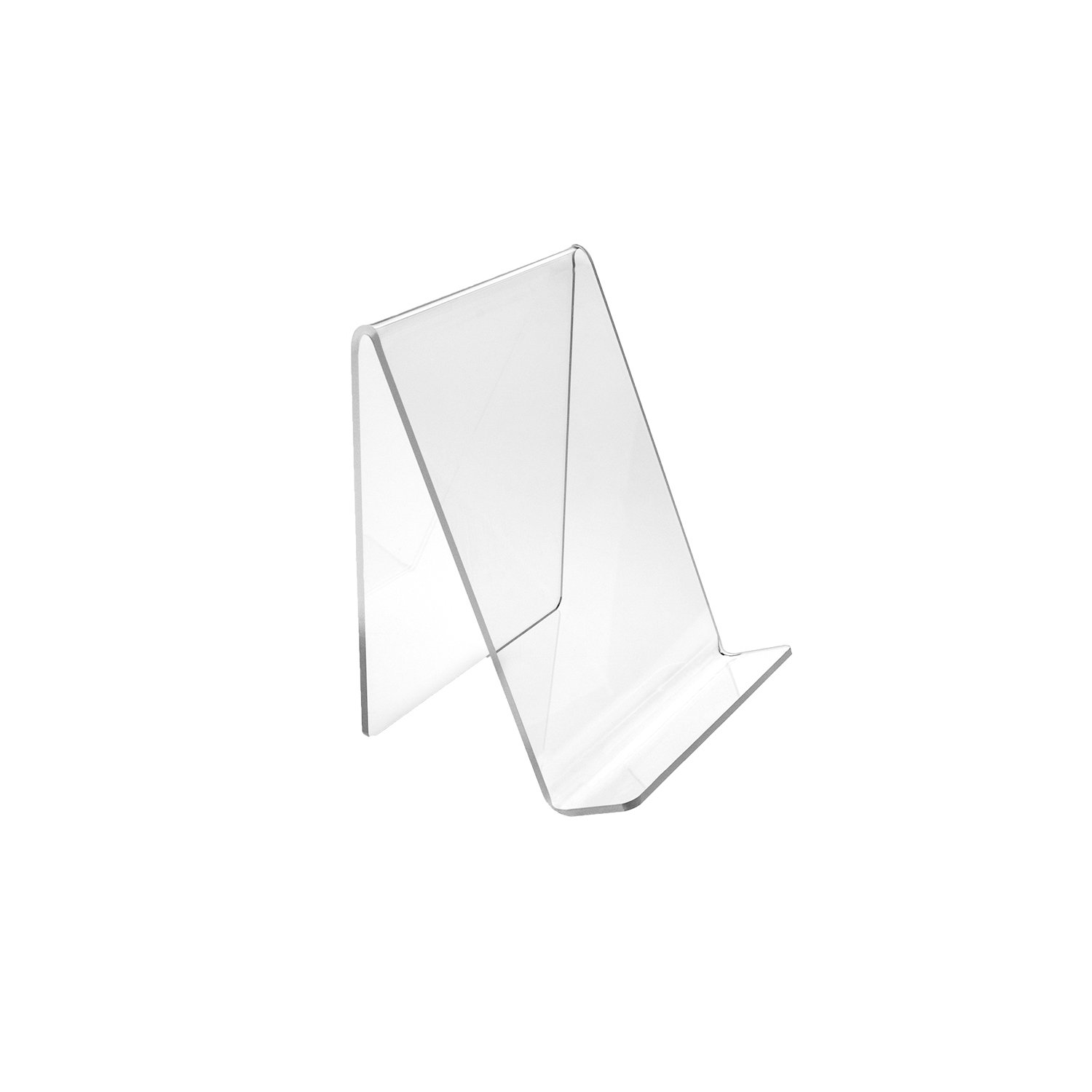 SOURCEONE.ORG Deluxe 4.5 x 5 Inch Medium Clear Acrylic Book Easels Premium Thick