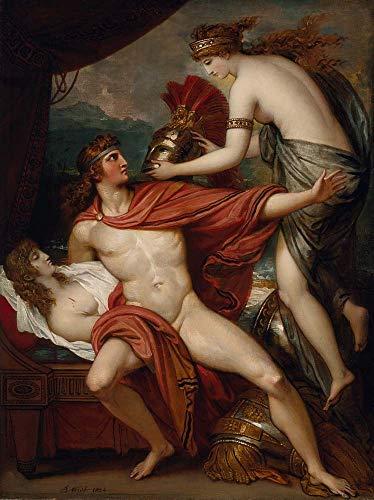 Póster de Benjamin West - Thetis trayendo la armadura a Aquiles, arte vintage, 12 x 8 cm (A4)