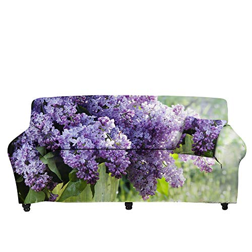 HXTSWGS Fundas de sofá Gruesas para sofá,Funda de sofá de Flores 3D, Funda Protectora elástica con Todo Incluido para Todas Las Estaciones, cojín de Toalla de sofá-Color4_90-140cm