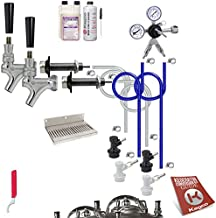 Kegco KC UCK2-BLCP-NT Conversion Kit, Stainless Steel