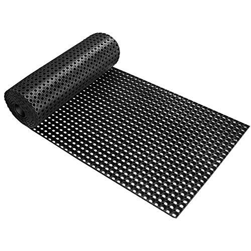 Ringgummimatte Octo Roll | Gummimatte für den Innen- und Außenbereich | Wabenstruktur | rutschfest | viele Größen | 100x200 cm