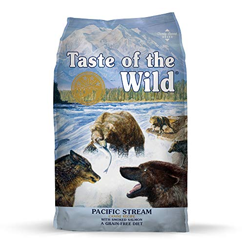 Taste of the Wild Pacific Stream Grain-Free Dry Dog Food with Smoked Salmon 28lb
