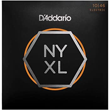 D'Addario NYXL1046 Nickel Plated Electric Guitar Strings, Regular Light,10-46 – High Carbon Steel Alloy for Unprecedented Strength – Ideal Combination of Playability and Electric Tone