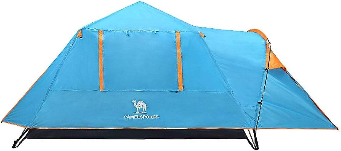 Tente De Plage Tente de Camping en Plein Air Camel, 3-4 Personnes, Structure à Double Couche, Ouverture Rapide, Résistant à La Pluie, Prougeection Solaire, Imperméable, Pêche Sur Le Terrain de Pique-niq