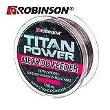 Robinson 150m Titan Power Method Feeder braune schnell sinkende Angelschnur von Ø0,175mm bis...
