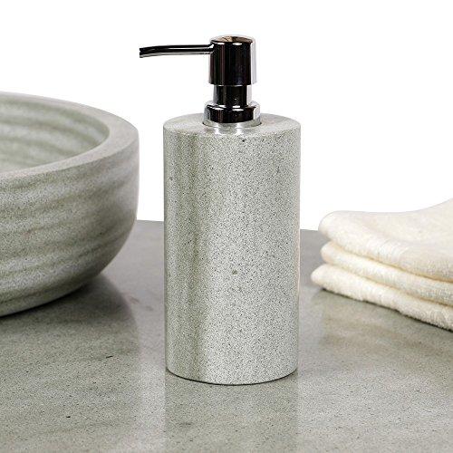 wohnfreuden natuursteen zandsteen zeepdispenser 20 cm gepolijst badkamer gastentoilet