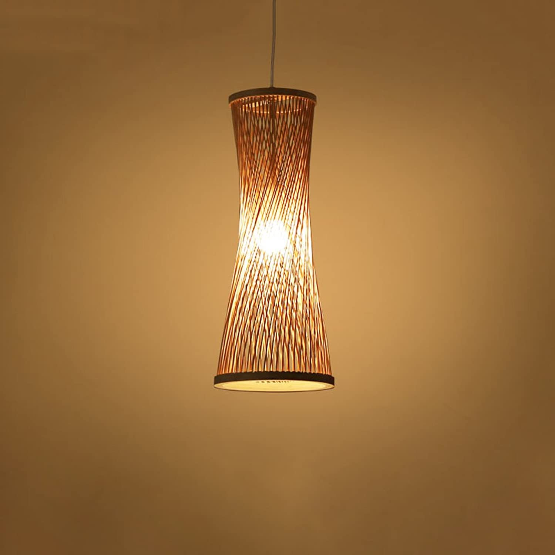 Pointhx Bambus Rattan Deckenleuchte, Kreative Hohl Bambus Kunst Pendelleuchte, Wohnzimmer Restaurant Dekorative Hngelampe Droplight, 17  42 cm