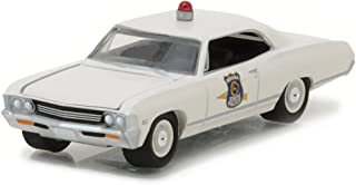 NEW 1:64 GREENLIGHT HOT PURSUIT SERIES 23 ASSORTMENT - 1967 CHEVY IMPALA - INDIANA STATE POLICE (OFF-WHITE) Diecast Model Car By Greenlight