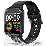 Smart Watch with Blood Pressure Heart Rate Blood Oxygen Monitor, IP67 Waterproof 1.3' Color Touch Screen Fitness Tracker, Step Calorie Counter Sleep Monitor Music Control for Women Men Kids