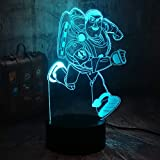 Toy Story Cool Running Buzz Lightyear Woody Friends 3D Optical Illusion Night Light Remote Control Deask Lamp Room Decor Boy Toys Kids Best Christmas Gifts(Running Buzz Lightyear)