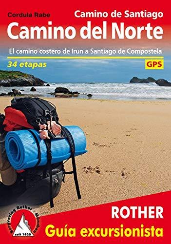 Rother Wanderführer Camino del Norte spanische Ausgabe. GPS-Tracks: El camino costero de Irun a Santiago de Compostela. 34 etapas. Con tracks de GPS