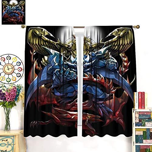 Yu Gi Oh Ägyptischer Gott Obelisk The Tormentor Slifer The Sky Dragon The Flügeldrache of Ra Vorhänge Modern Vorhänge Wohnzimmer Schlafzimmer Fashion Art Art Vorhang 183 x 160 cm