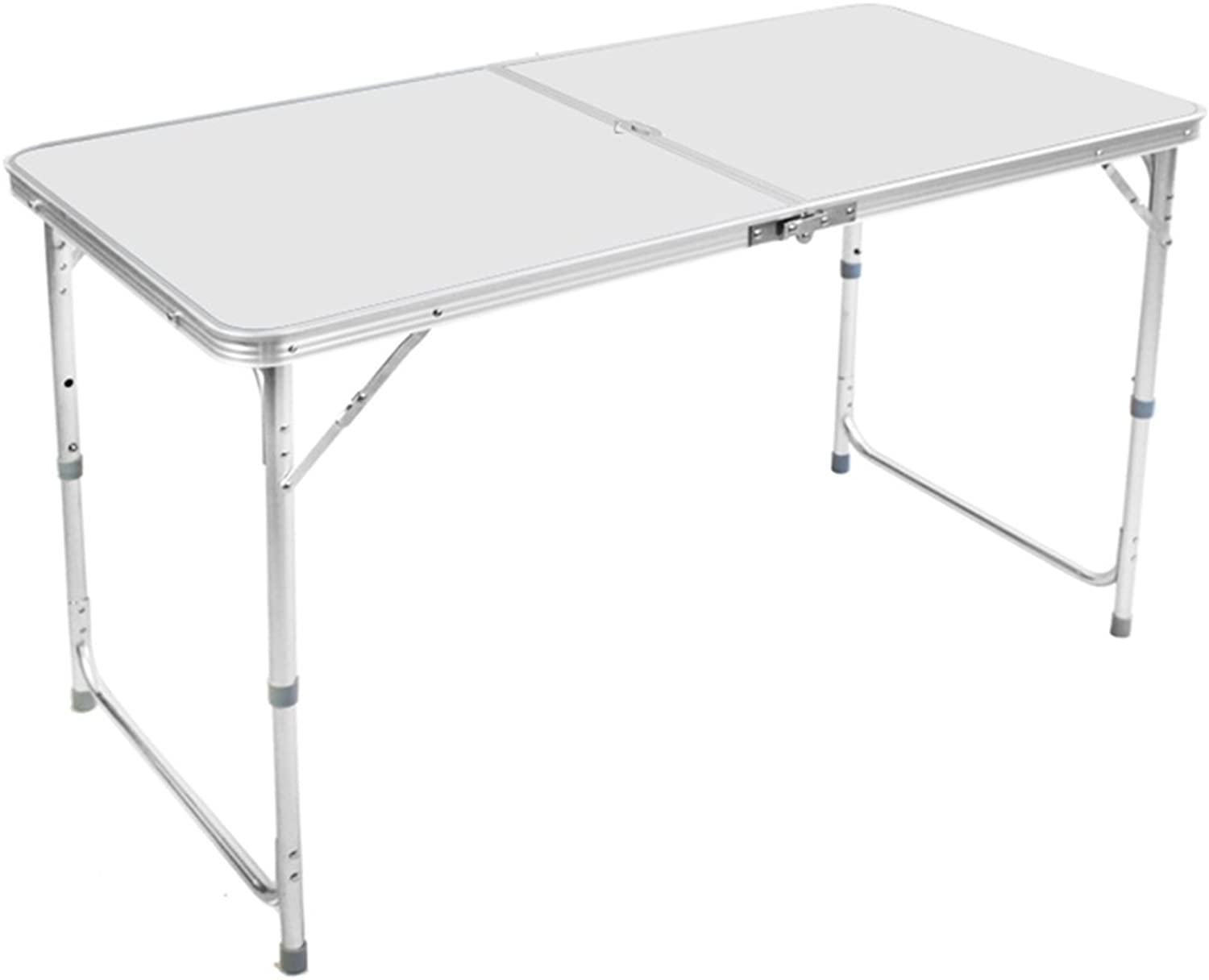 ZZHF zhuozi Folding Table    Double Pole Reinforcement Convenient Portable Folding   Dining Table Household Folding Desk Camping Folding Table (color   A)