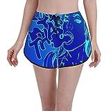 Pantalones cortos estilo atractivo atractivo cubierta roja cabeza chica con cachimba mujeres trajes de baño casual trajes de baño verano secado rápido cordón deportes pantalones cortos de natación