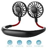 ZoeeTree USB Fan Neck Fan, Desk Fan Travel Small Fan with 4-12Hs Working Time, Portable Fan for Office/Outdoors/Household, 3 Speeds, Quiet, Rechargeable, Aromatherapy