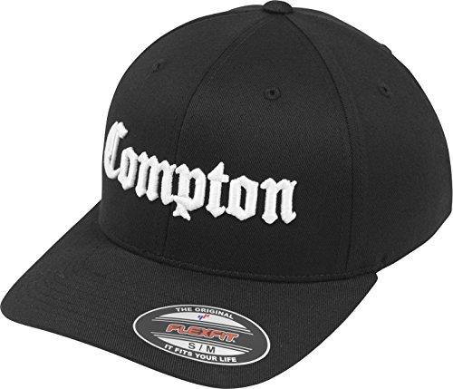 Mister Tee Herren Compton Flexfit Cap Kappen, Blk/Wht, L/XL